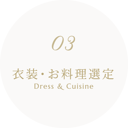 衣装・お料理選定